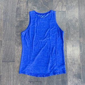 Athleta Blue Open Back Tank Top
